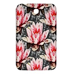 Water Lily Background Pattern Samsung Galaxy Tab 3 (7 ) P3200 Hardshell Case