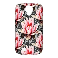 Water Lily Background Pattern Samsung Galaxy S4 Classic Hardshell Case (pc+silicone)