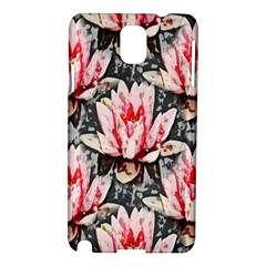 Water Lily Background Pattern Samsung Galaxy Note 3 N9005 Hardshell Case
