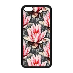 Water Lily Background Pattern Apple Iphone 5c Seamless Case (black)