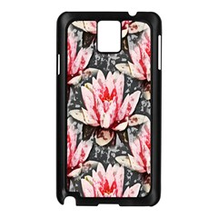 Water Lily Background Pattern Samsung Galaxy Note 3 N9005 Case (black)