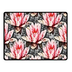 Water Lily Background Pattern Double Sided Fleece Blanket (small)