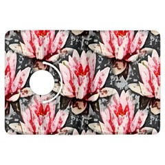 Water Lily Background Pattern Kindle Fire Hdx Flip 360 Case