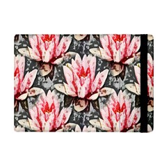 Water Lily Background Pattern Ipad Mini 2 Flip Cases