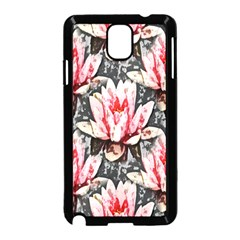 Water Lily Background Pattern Samsung Galaxy Note 3 Neo Hardshell Case (black)