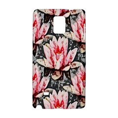 Water Lily Background Pattern Samsung Galaxy Note 4 Hardshell Case