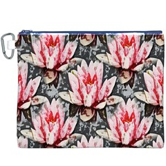 Water Lily Background Pattern Canvas Cosmetic Bag (xxxl)
