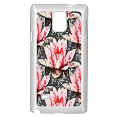 Water Lily Background Pattern Samsung Galaxy Note 4 Case (white)