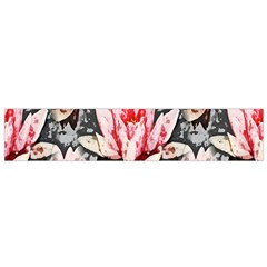 Water Lily Background Pattern Flano Scarf (small)