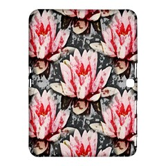 Water Lily Background Pattern Samsung Galaxy Tab 4 (10 1 ) Hardshell Case