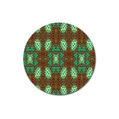 Art Design Template Decoration Magnet 3  (round)