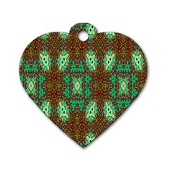 Art Design Template Decoration Dog Tag Heart (two Sides)