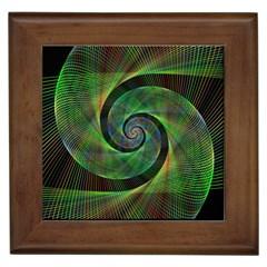 Green Spiral Fractal Wired Framed Tiles