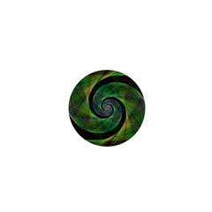 Green Spiral Fractal Wired 1  Mini Magnets