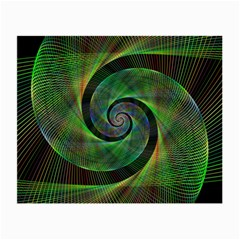 Green Spiral Fractal Wired Small Glasses Cloth