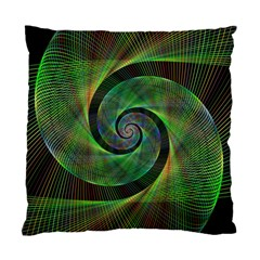 Green Spiral Fractal Wired Standard Cushion Case (two Sides)