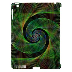 Green Spiral Fractal Wired Apple Ipad 3/4 Hardshell Case (compatible With Smart Cover)