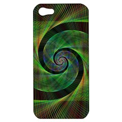 Green Spiral Fractal Wired Apple Iphone 5 Hardshell Case