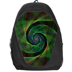 Green Spiral Fractal Wired Backpack Bag