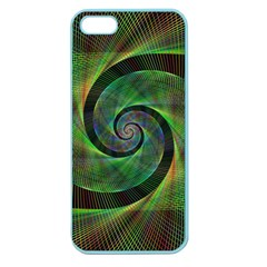 Green Spiral Fractal Wired Apple Seamless Iphone 5 Case (color)