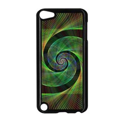 Green Spiral Fractal Wired Apple Ipod Touch 5 Case (black)