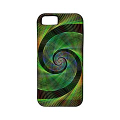 Green Spiral Fractal Wired Apple Iphone 5 Classic Hardshell Case (pc+silicone)
