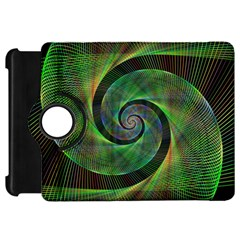 Green Spiral Fractal Wired Kindle Fire Hd 7