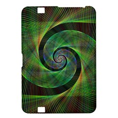 Green Spiral Fractal Wired Kindle Fire Hd 8 9