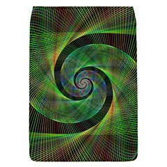 Green Spiral Fractal Wired Flap Covers (l)