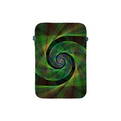 Green Spiral Fractal Wired Apple Ipad Mini Protective Soft Cases
