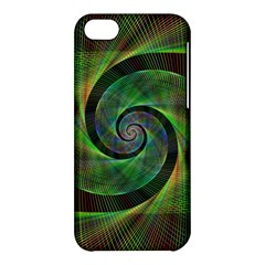 Green Spiral Fractal Wired Apple Iphone 5c Hardshell Case