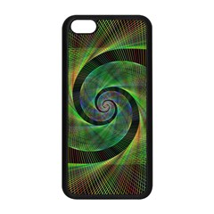 Green Spiral Fractal Wired Apple Iphone 5c Seamless Case (black)