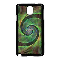 Green Spiral Fractal Wired Samsung Galaxy Note 3 Neo Hardshell Case (black)