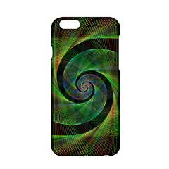 Green Spiral Fractal Wired Apple Iphone 6/6s Hardshell Case