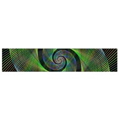 Green Spiral Fractal Wired Flano Scarf (small)