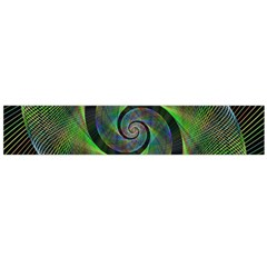 Green Spiral Fractal Wired Flano Scarf (large)