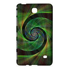 Green Spiral Fractal Wired Samsung Galaxy Tab 4 (8 ) Hardshell Case