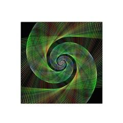 Green Spiral Fractal Wired Satin Bandana Scarf