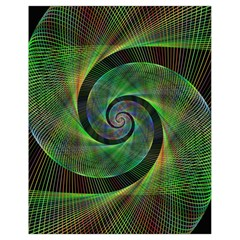 Green Spiral Fractal Wired Drawstring Bag (small)