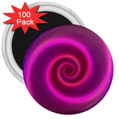 Pink Background Neon Neon Light 3  Magnets (100 Pack)
