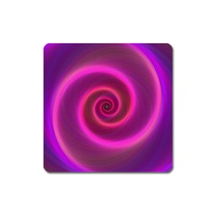 Pink Background Neon Neon Light Square Magnet
