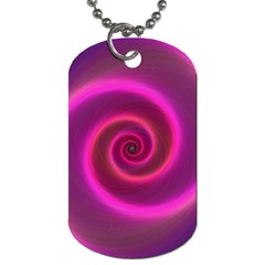 Pink Background Neon Neon Light Dog Tag (two Sides)