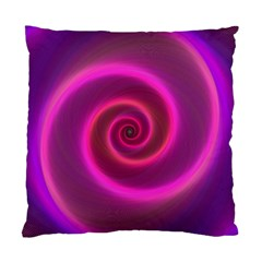 Pink Background Neon Neon Light Standard Cushion Case (two Sides)