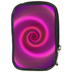Pink Background Neon Neon Light Compact Camera Cases