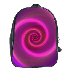 Pink Background Neon Neon Light School Bag (large)