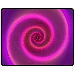 Pink Background Neon Neon Light Fleece Blanket (medium)