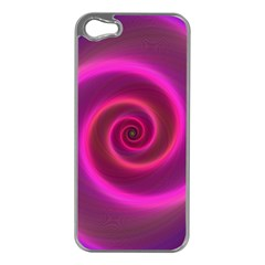 Pink Background Neon Neon Light Apple Iphone 5 Case (silver)