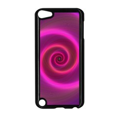 Pink Background Neon Neon Light Apple Ipod Touch 5 Case (black)