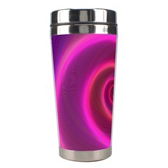 Pink Background Neon Neon Light Stainless Steel Travel Tumblers