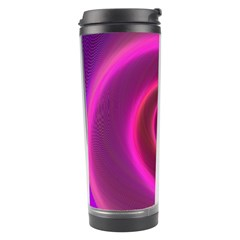 Pink Background Neon Neon Light Travel Tumbler
